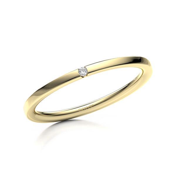Memoire/Diamantring in Gelbgold 585 mit zus. 0,01 ct. Brillant tw, si von acredo - A-11MHXR-G5-1SY0TYZ