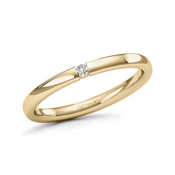 Memoire/Diamantring in Gelbgold 585 mit zus. 0,03 ct. Brillant tw, si von acredo - A-11QEPT-G5-3FTXQZ