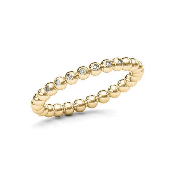 Memoire/Diamantring in Gelbgold 585 mit zus. 0,056 ct. tw, si von 123gold - E-11DYPW-G5-1T2TWTZ