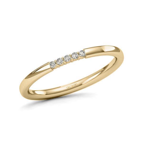Memoire/Diamantring in Gelbgold 585 mit zus. 0,05 ct. Brillant tw, si von acredo - A-11QEQS-G5-1SYRFEZ