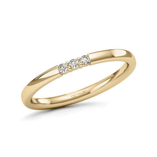 Memoire/Diamantring in Gelbgold 585 mit zus. 0,06 ct. Brillant tw, si von acredo - A-11QEQA-G5-9QZ0WZ