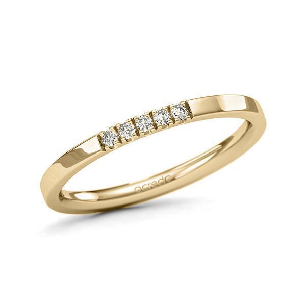 Memoire/Diamantring in Gelbgold 585 mit zus. 0,075 ct. Brillant tw, si von acredo - A-11QGFS-G5-1T61TZZ