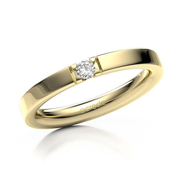 Memoire/Diamantring in Gelbgold 585 mit zus. 0,08 ct. Brillant tw, vs von acredo - A-12EXNS-G5-9RED1Z