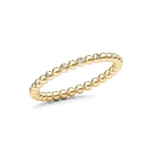 Memoire/Diamantring in Gelbgold 585 mit zus. 0,08 ct. tw, si von 123gold - E-11DYM6-G5-1T2PMFZ