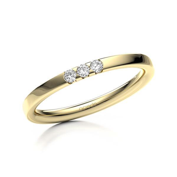 Memoire/Diamantring in Gelbgold 585 mit zus. 0,09 ct. Brillant tw, si von acredo - A-11MIBD-G5-2LGI8Z