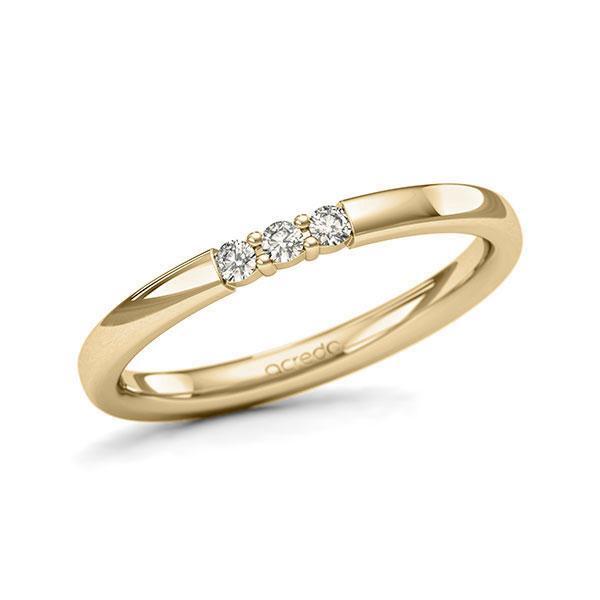 Memoire/Diamantring in Gelbgold 585 mit zus. 0,09 ct. Brillant tw, si von acredo - A-11QEQB-G5-2LGI8Z