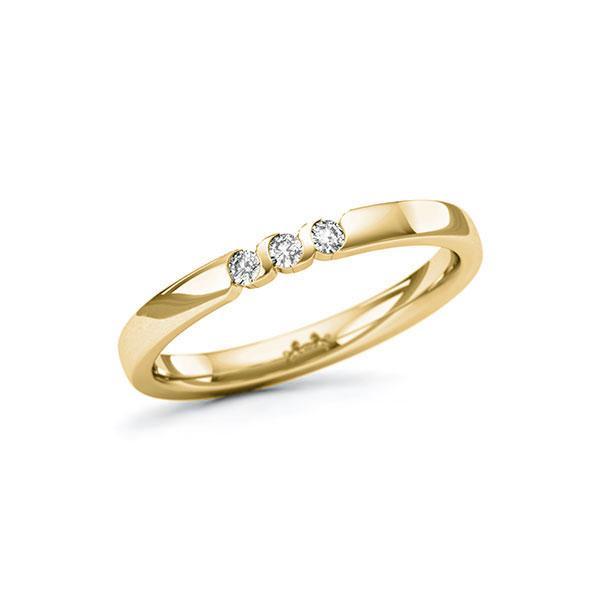 Memoire/Diamantring in Gelbgold 585 mit zus. 0,09 ct. Brillant tw, si von Steinberg - Q-11QR6Q-G5-1U0J1NZ