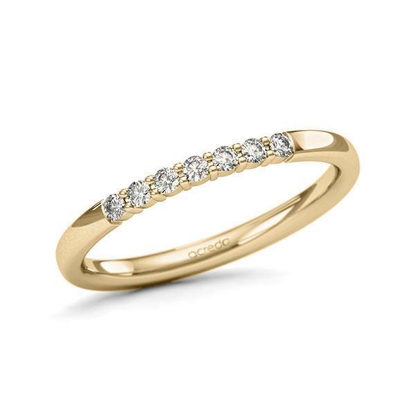 Memoire/Diamantring in Gelbgold 585 mit zus. 0,14 ct. Brillant tw, si von acredo - A-11QER5-G5-9WW9LZ