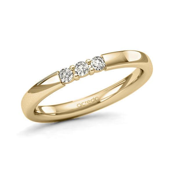 Memoire/Diamantring in Gelbgold 585 mit zus. 0,15 ct. Brillant tw, si von acredo - A-11QEQD-G5-2LHGNZ