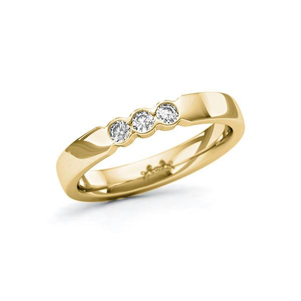 Memoire/Diamantring in Gelbgold 585 mit zus. 0,15 ct. Brillant tw, si von Steinberg - Q-11QPEU-G5-1U0J1QZ