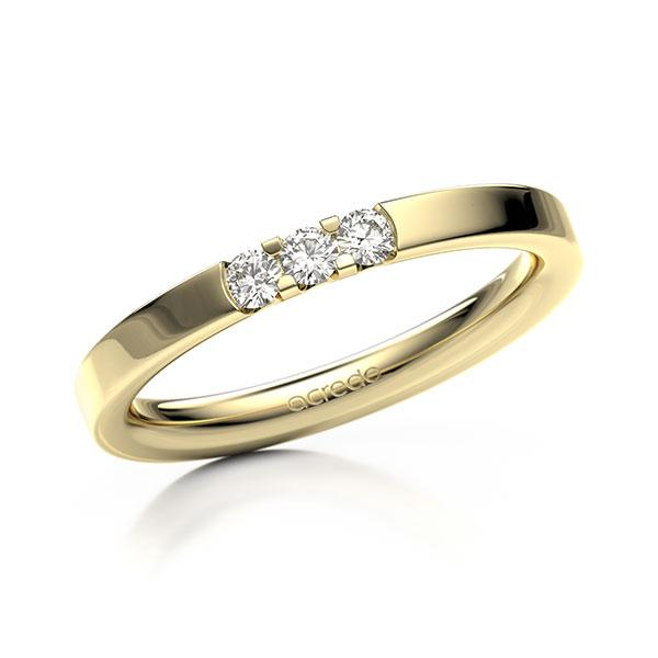 Memoire/Diamantring in Gelbgold 585 mit zus. 0,15 ct. Brillant tw, vs von acredo - A-12EXPA-G5-8XDJWZ