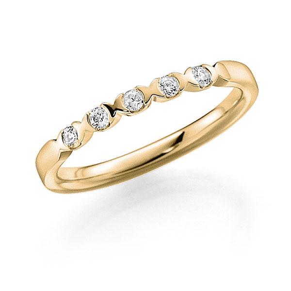 Memoire/Diamantring in Gelbgold 585 mit zus. 0,15 ct. Brillant tw, vs von acredo - A-3RZ5A-G5-2LHGUZ
