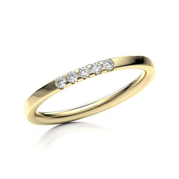 Memoire/Diamantring in Gelbgold 585 mit zus. 0,1 ct. Brillant tw, si von acredo - A-11M07L-G5-9QZ9RZ