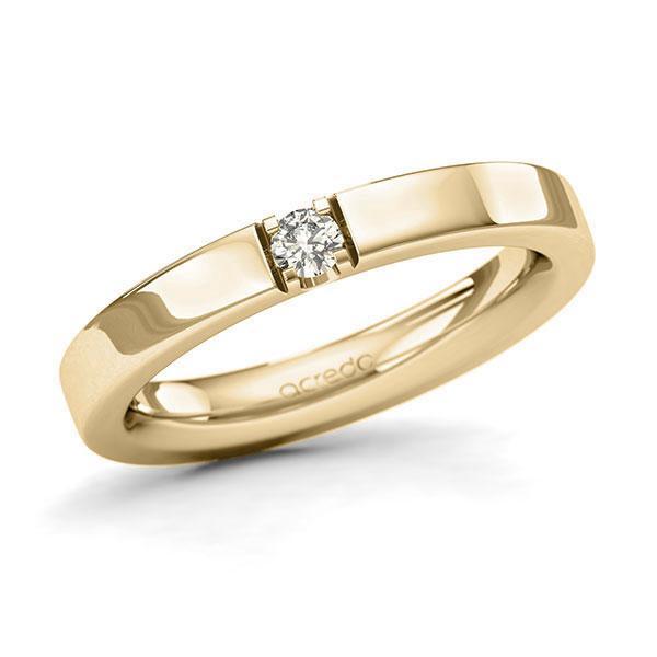 Memoire/Diamantring in Gelbgold 585 mit zus. 0,1 ct. Brillant tw, si von acredo - A-1284HB-G5-95RL6Z