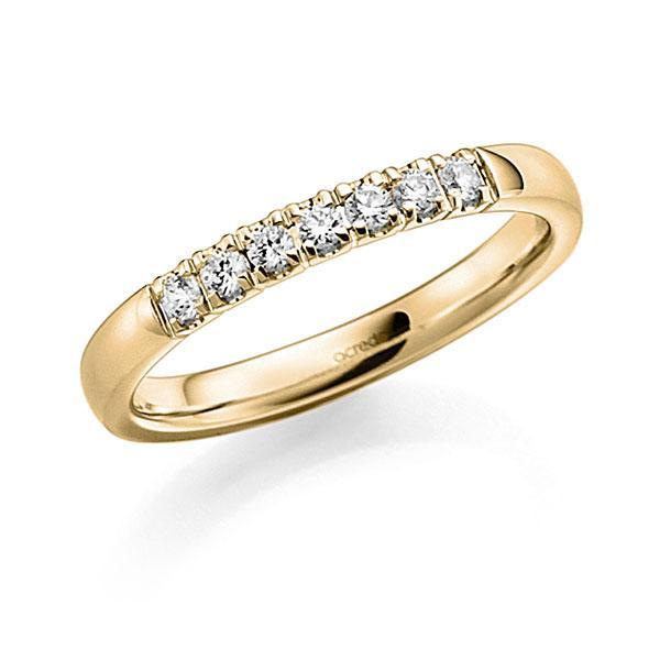 Memoire/Diamantring in Gelbgold 585 mit zus. 0,21 ct. Brillant tw, vs von acredo - A-7WWRG-G5-97SDLZ