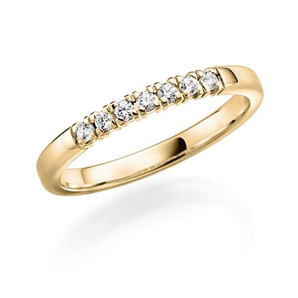 Memoire/Diamantring in Gelbgold 585 mit zus. 0,21 ct. Brillant tw, vs von acredo - A-7YCI1-G5-97SDLZ