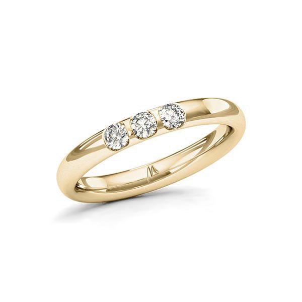 Memoire/Diamantring in Gelbgold 585 mit zus. 0,24 ct. Brillant tw, vs von Merii - M-10Q1SK-G5-1S0BI2Z