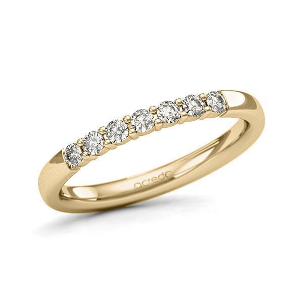 Memoire/Diamantring in Gelbgold 585 mit zus. 0,28 ct. Brillant tw, si von acredo - A-11QER9-G5-9QZ96Z