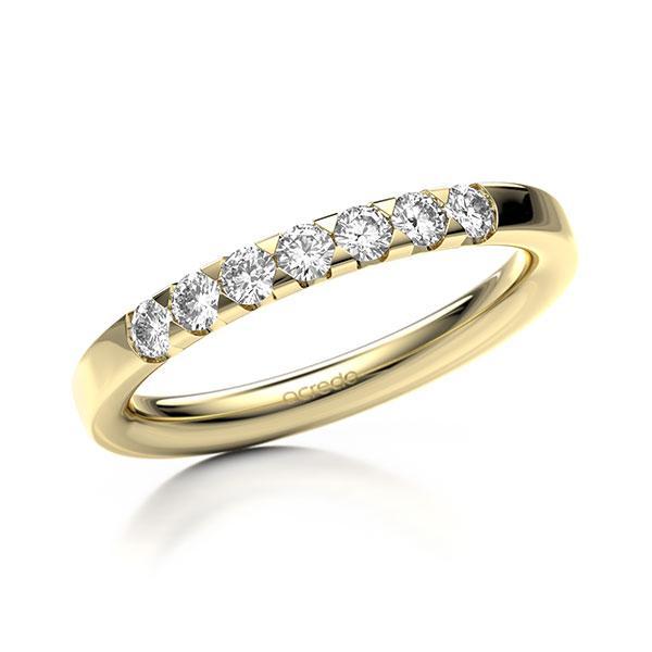 Memoire/Diamantring in Gelbgold 585 mit zus. 0,35 ct. Brillant tw, si von acredo - A-11MIHL-G5-8ZGIBZ