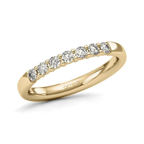 Memoire/Diamantring in Gelbgold 585 mit zus. 0,35 ct. Brillant tw, si von acredo - A-11QERB-G5-8ZGIBZ