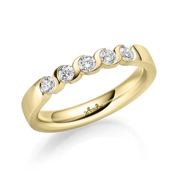 Memoire/Diamantring in Gelbgold 585 mit zus. 0,35 ct. Brillant tw, si von Steinberg - Q-11PA0T-G5-1U0J1EZ