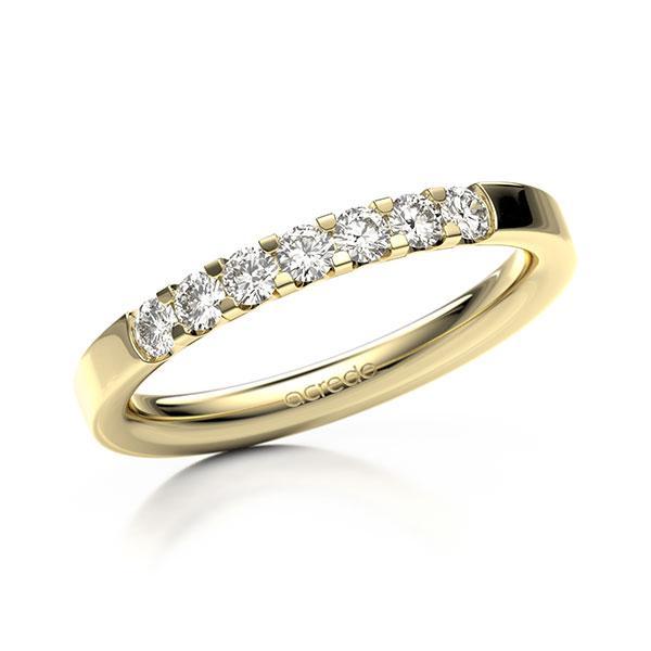 Memoire/Diamantring in Gelbgold 585 mit zus. 0,35 ct. Brillant tw, vs von acredo - A-12EXTP-G5-2LGGXZ