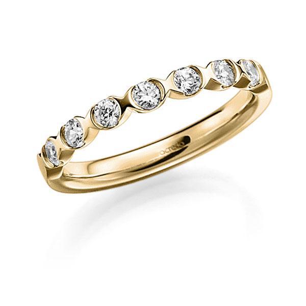 Memoire/Diamantring in Gelbgold 585 mit zus. 0,42 ct. Brillant tw, vs von acredo - A-3RZ5G-G5-3FTXUZ