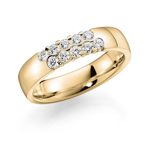Memoire/Diamantring in Gelbgold 585 mit zus. 0,4 ct. Brillant tw, vs von acredo - A-7ILAL-G5-2LHG7Z