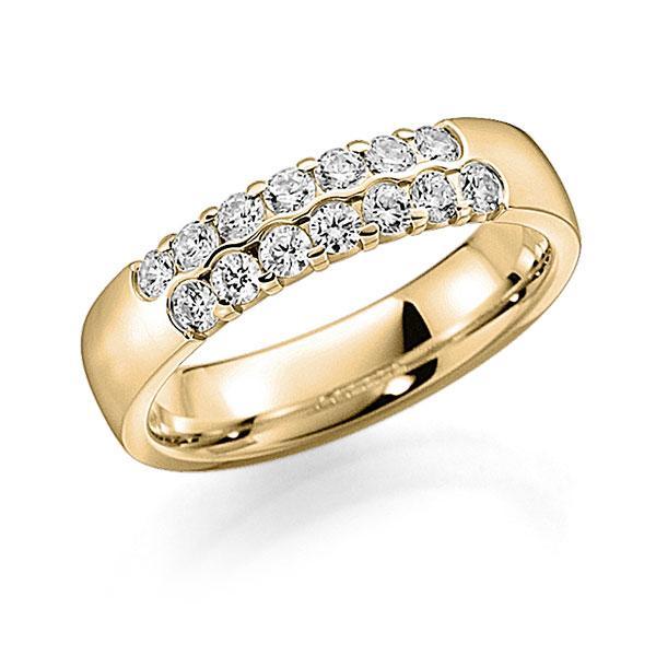 Memoire/Diamantring in Gelbgold 585 mit zus. 0,56 ct. Brillant tw, vs von acredo - A-7ILAW-G5-2LHGBZ