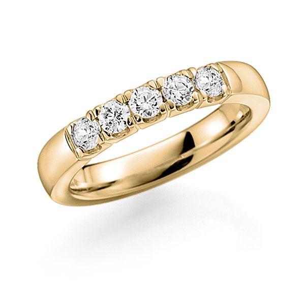 Memoire/Diamantring in Gelbgold 585 mit zus. 0,5 ct. Brillant tw, vs von acredo - A-7IM3L-G5-2LGKEZ