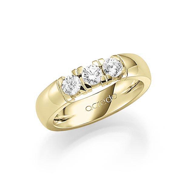 Memoire/Diamantring in Gelbgold 585 mit zus. 0,75 ct. Brillant tw, vs von acredo - A-7IPLL-G5-1BYY41Z