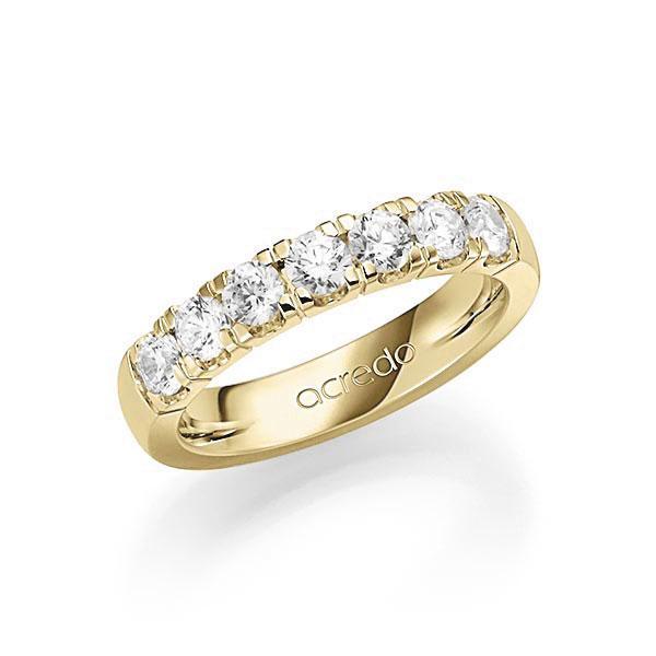 Memoire/Diamantring in Gelbgold 585 mit zus. 1,05 ct. Brillant tw, vs von acredo - A-7IM91-G5-1C6ZV6Z