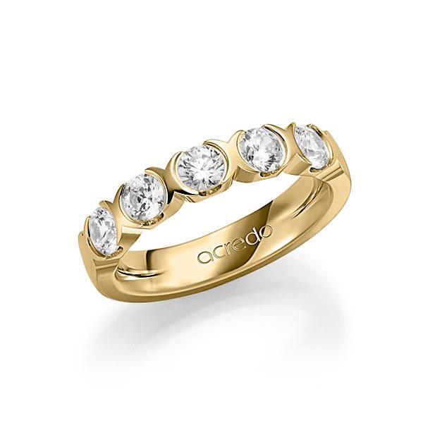 Memoire/Diamantring in Gelbgold 585 mit zus. 1,25 ct. Brillant tw, vs von acredo - A-SP75R-G5-1C881LZ