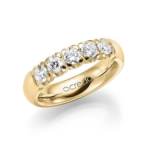 Memoire/Diamantring in Gelbgold 585 mit zus. 1 ct. Brillant tw, vs von acredo - A-7X1CB-G5-1C82L1Z