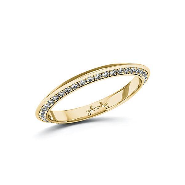 Memoire/Diamantring in Gelbgold 585 vollausgefasst mit zus. 0,41 ct. Brillant tw, si von Steinberg - Q-ZXUD5-G5-1U0IXPZ