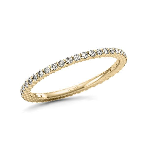Memoire/Diamantring in Gelbgold 585 vollausgefasst mit zus. 0,42 ct. Brillant tw, si von acredo - A-1124K2-G5-1U1D5IZ