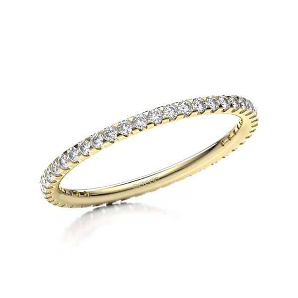 Memoire/Diamantring in Gelbgold 585 vollausgefasst mit zus. 0,44 ct. Brillant tw, si von acredo - A-11MINW-G5-1TVWWSZ