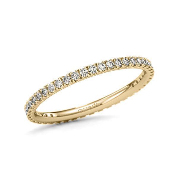 Memoire/Diamantring in Gelbgold 585 vollausgefasst mit zus. 0,44 ct. Brillant tw, si von acredo - A-11QGIE-G5-1TVWWSZ