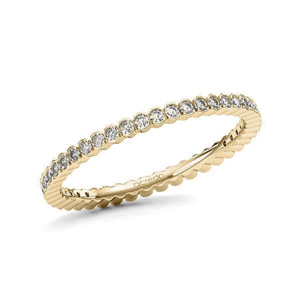 Memoire/Diamantring in Gelbgold 585 vollausgefasst mit zus. 0,47 ct. Brillant tw, si von acredo - A-11MRAR-G5-1TWLFAZ