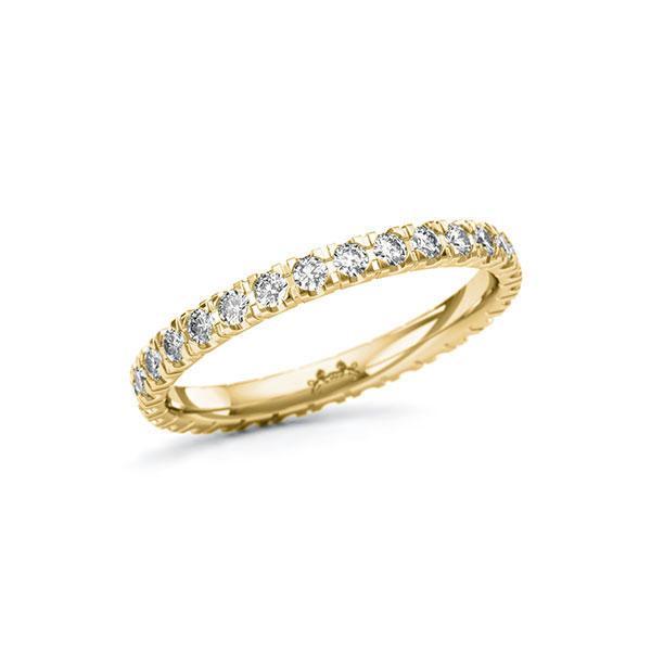 Memoire/Diamantring in Gelbgold 585 vollausgefasst mit zus. 0,58 ct. Brillant tw, si von Steinberg - Q-11QQRT-G5-1U0KTCZ