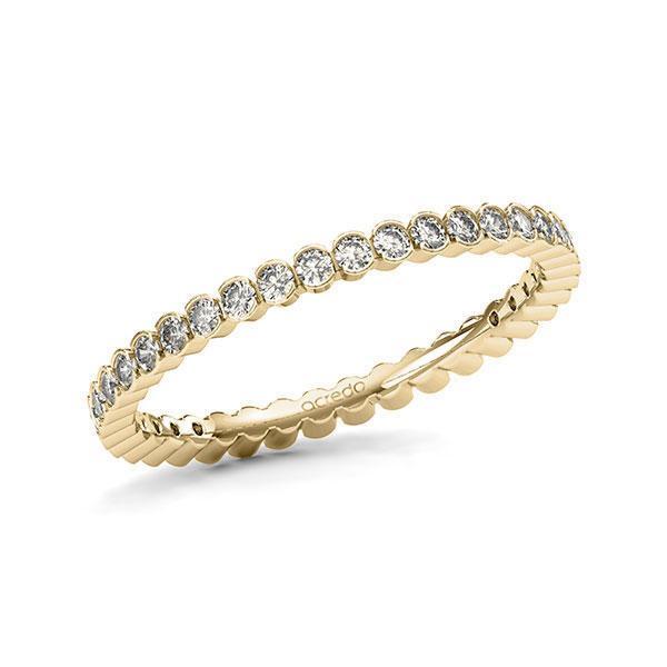 Memoire/Diamantring in Gelbgold 585 vollausgefasst mit zus. 0,615 ct. Brillant tw, si von acredo - A-11MRFH-G5-1TWLFGZ