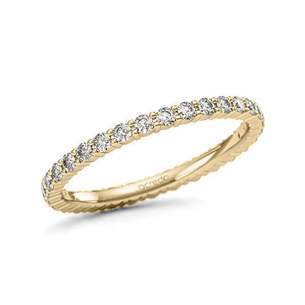 Memoire/Diamantring in Gelbgold 585 vollausgefasst mit zus. 0,62 ct. Brillant tw, si von acredo - A-11QBTX-G5-1U1D6QZ