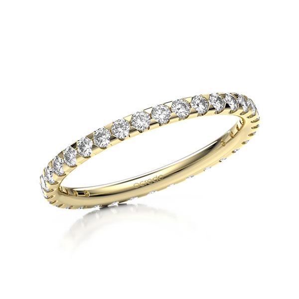 Memoire/Diamantring in Gelbgold 585 vollausgefasst mit zus. 0,66 ct. Brillant tw, si von acredo - A-11MIPE-G5-1TVWQZZ