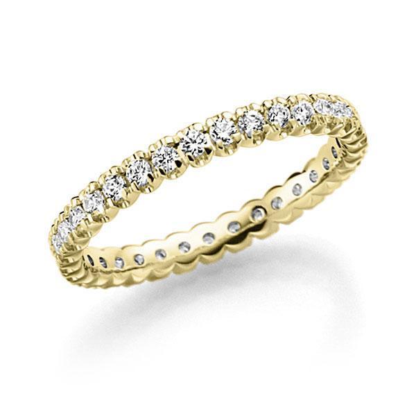 Memoire/Diamantring in Gelbgold 585 vollausgefasst mit zus. 0,66 ct. Brillant tw, vs von acredo - A-7X0TG-G5-2LGEUZ