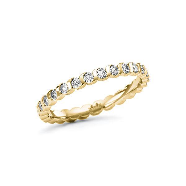Memoire/Diamantring in Gelbgold 585 vollausgefasst mit zus. 0,78 ct. Brillant tw, si von Steinberg - Q-11QR8K-G5-1U0P0BZ