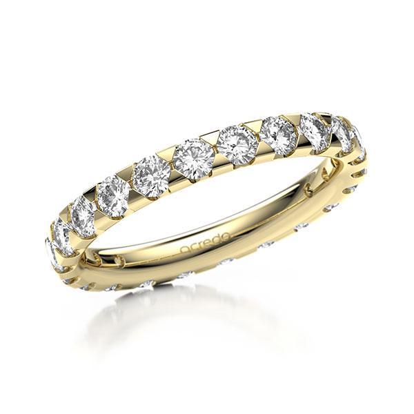 Memoire/Diamantring in Gelbgold 585 vollausgefasst mit zus. 1,54 ct. Brillant tw, si von acredo - A-1270I3-G5-1C8CYLZ