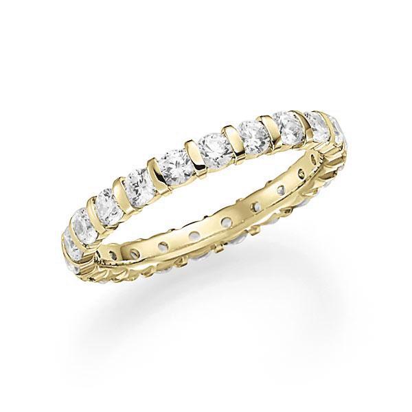 Memoire/Diamantring in Gelbgold 585 vollausgefasst mit zus. 1,54 ct. Brillant tw, vs von acredo - A-7J1X6-G5-1C864GZ