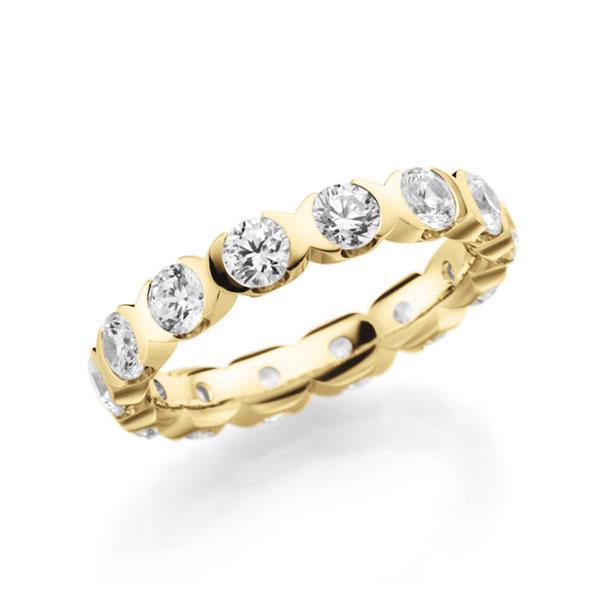 Memoire/Diamantring in Gelbgold 585 vollausgefasst mit zus. 2,1 ct. Brillant tw, vs von acredo - A-7XXX6-G5-1D30D1Z