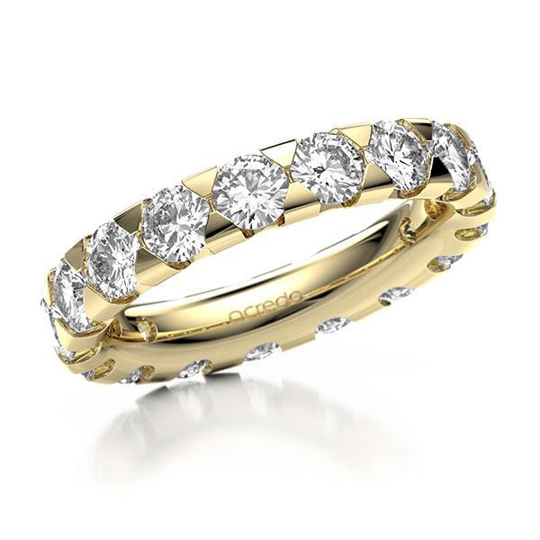 Memoire/Diamantring in Gelbgold 585 vollausgefasst mit zus. 3,4 ct. Brillant tw, si von acredo - A-1270IM-G5-1USA4DZ
