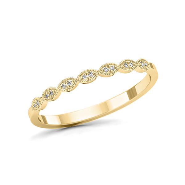 Memoire/Diamantring in Gelbgold 750 mit zus. 0,036 ct. w, si - BD-12L14H-G7-1U5QPPZ